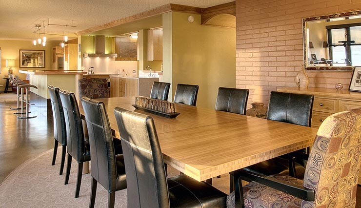 Mucci Truckess Architecture: Furnishings - Bamboo Dining Table