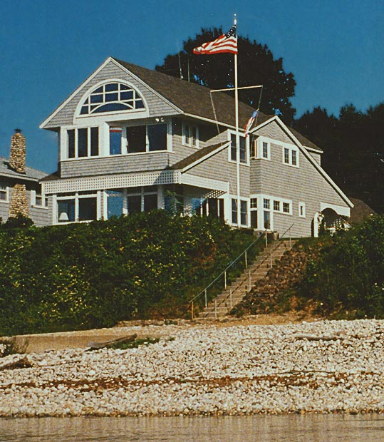 Mucci Truckess Architecture: Sea Lane Shingle Style - View from the Sound