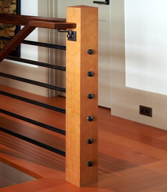Mucci Truckess Architecture: Details - Newel Post and Railing